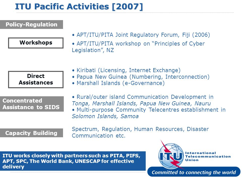 ITU Pacific Activities [2007]